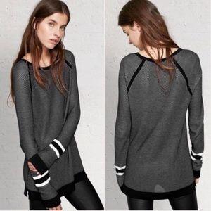 rag & bone 'Martina' Striped Open Knit Sweater